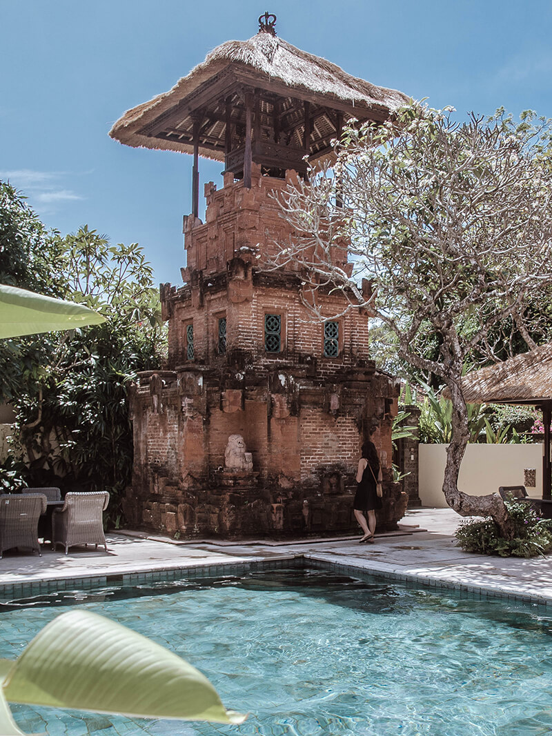 Honeymoon im The Pavilions Bali: Turm